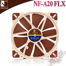 [ PC PARTY ]  貓頭鷹 Noctua NF-A20 FLX  20公分 防震靜音風扇