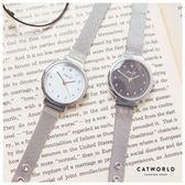Catworld 百搭銀色金屬錶帶手錶【18002785】‧F