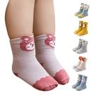童襪嬰兒襪子寶寶防滑襪 秋冬鬆口立體動物造型短襪-JoyBaby