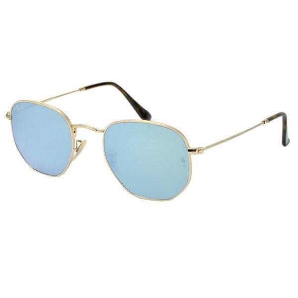 原廠公司貨-【Ray Ban 雷朋】RB3548N-001/30復古水銀鏡面太陽眼鏡(金框-水銀)