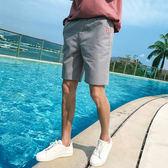 【雙12】全館大促新款夏新款男士休閒短褲男五分褲鬆緊麻褲正韓五色