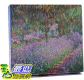 [COSCO代購] W122916 莫內-吉維尼的鳶尾花園松木框油畫 60x90CM