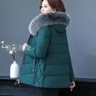 毛毛外套媽媽冬裝外套新款羽絨棉服中老年棉衣女短款洋氣寬鬆加厚棉襖 快速出貨