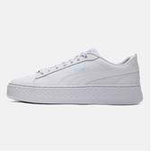 PUMA SMASH PLATFORM Q4 POLKA 女款全白休閒鞋-NO.36983301