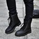 馬丁靴男士韓版潮流皮靴工裝靴雪地靴軍靴沙漠棉靴短靴棉鞋男靴子 凱斯盾