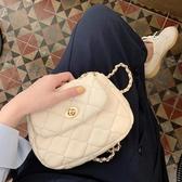 側背包 女包2020韓版新款菱格鍊條包云朵包ins單肩小包