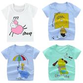 短袖上衣 卡通動物 透氣棉質T恤 嬰兒服 寶寶小童裝 HY00818 好娃娃