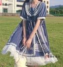 海军风洋装 日系軟妹學院風海軍風長袖短袖洋裝子仙女夏季