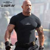 軍迷戰術t恤軍迷短袖緊身速乾健身鍛煉彈力拓展運動戶外吸汗圓領