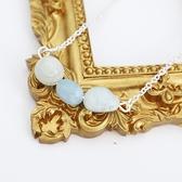 【粉紅堂 飾品】甜美海藍寶石項鍊*水藍色*