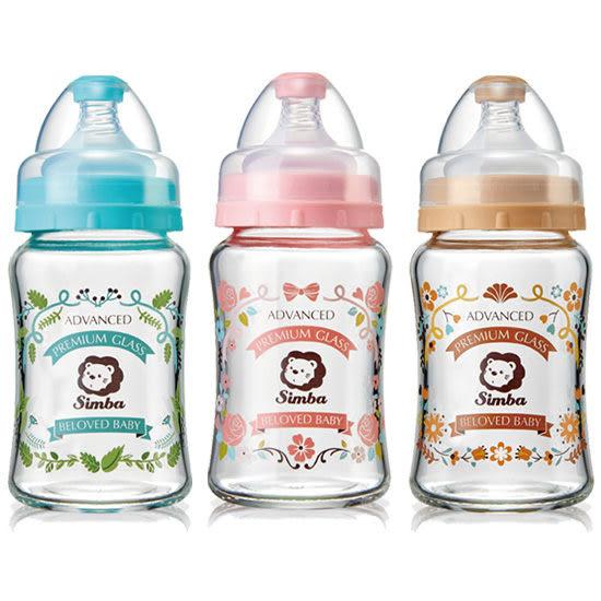 『121婦嬰用品館』Simba 小獅王辛巴 蘿蔓晶鑽寬口葫蘆玻璃小奶瓶180ml/咖啡