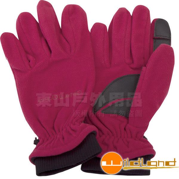 Wildland 荒野 92003-14櫻紅色 中性 防風保暖翻指手套 超細天鵝絨/手心止滑/機車手套