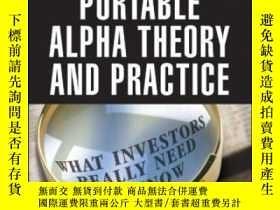 二手書博民逛書店Portable罕見Alpha Theory And PracticeY255562 Callin, Sabr