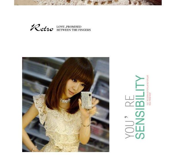 star 日韓系列 -山茶花白色鎖骨鏈-B34
