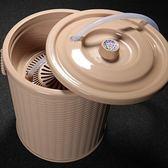 茶渣桶 功夫茶具配件茶道零配茶盤塑料茶水桶LJ7975『miss洛羽』