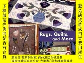 二手書博民逛書店Hooked罕見on Wool: Rugs, Quilts, a