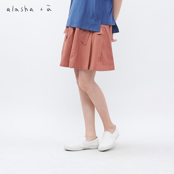 a la sha+a 蝴蝶結裝飾剪接短裙