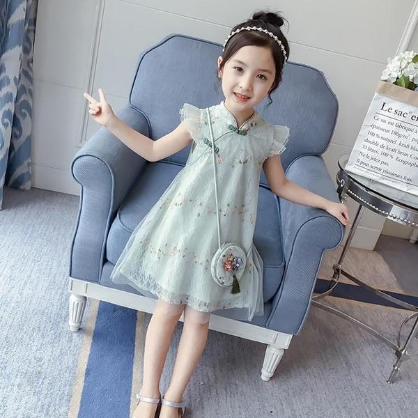 5女童漢服夏裝連身裙洋裝新款洋氣6中國風兒童裝夏天旗袍裙子8歲9