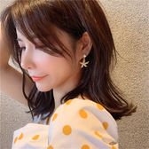 耳環68258#韓國東大門s925銀針珍珠海星耳環網紅甜美可愛精致耳墜耳飾GDB507快時尚