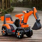 兒童挖掘機玩具車可坐可騎大號音樂男孩挖土機學步滑行工程車TBCLG