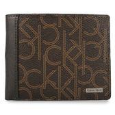 Calvin Klein LOGO圖紋短夾鑰匙圈禮盒(咖啡色)103031-1