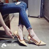高跟涼鞋 高跟鞋2018春季新款涼鞋女夏韓版蝴蝶結簡約時尚細跟尖頭 潮流小鋪