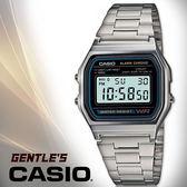 CASIO手錶專賣店 卡西歐  A158WA-1D  男錶 數字型 壓克力玻璃鏡面 LED燈光 不鏽鋼錶帶