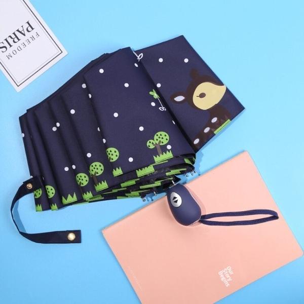 全自動兒童雨傘男女折傘卡通公主傘【聚寶屋】