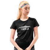 【Takaka】女 山脈印花彈性T恤『黑色』M62923 居家 休閒 上衣 短袖 夏季 印花 T恤