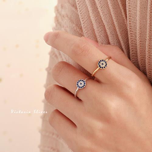 S925純銀 惡魔之眼精緻小巧優雅戒指-維多利亞180639