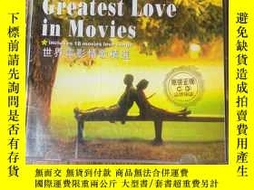 二手書博民逛書店CD罕見The best of greatest love in movies 世界電影情歌精選Y232925