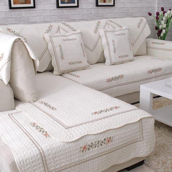 四季全棉沙發墊布藝簡約現代實木純棉夏季皮沙發坐墊冬沙發套巾