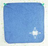 【震撼精品百貨】Hello Kitty 凱蒂貓~方巾/毛巾-右下花-深藍色