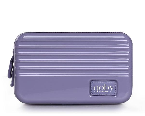 GOBY 果比 Love系列-迷你行李箱旅遊化妝包-硬殼包- L8625丁香紫[禾雅時尚]