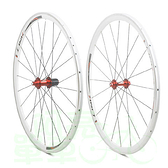 *阿亮單車*LINK C30AL 700C公路車鋁合金輪組,CHOSEN培林花鼓,白框紅花鼓《A20-403》