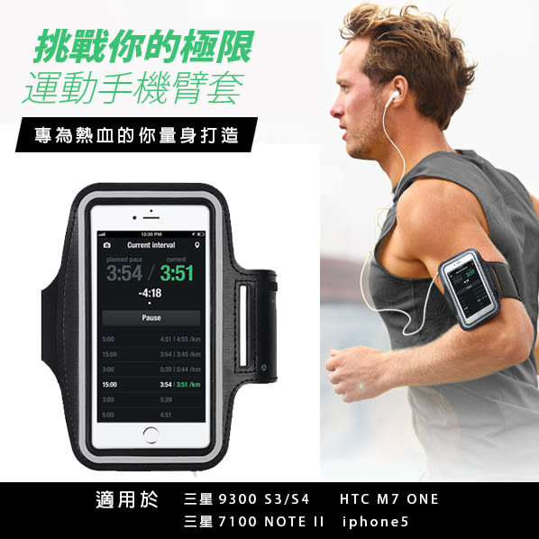 Qmishop 手機臂套iPhone4、三星9300 S3、三星7100 NOTE II、HTC M7 ONE 【QJ2269】PT