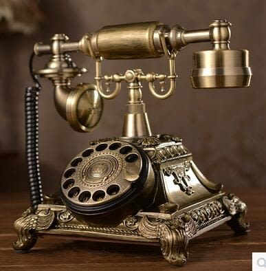 設計師美術精品館歐式仿古電話機 復古轉盤電話機 老式旋轉撥號電話機時尚創意座機