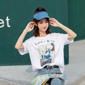 +M9038#夏季新款韓版女裝短袖印花學生簡約 &小咪的店&