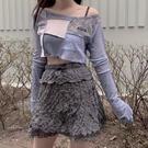 NAMI韓國ODDONEOUT長袖T恤女上衣外搭罩衫潮露肩防曬衣空調衫 20 【草莓妞妞】