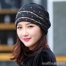 包頭帽女蕾絲頭巾帽套頭帽化療帽子女薄冬透氣光頭帽堆堆帽空調帽 美芭