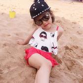 韓版兒童泳衣女童保守游泳衣分體裙式中大童泳裝平角寶寶親子泳衣 衣櫥の秘密