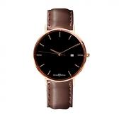 【南紡購物中心】【MAX MAX】簡約生活輕薄時尚腕錶-黑/38mm (MAS7019-2)
