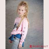 童裝親子裝T恤 夢特嬌 粉色法國國旗字母款 90-110cm