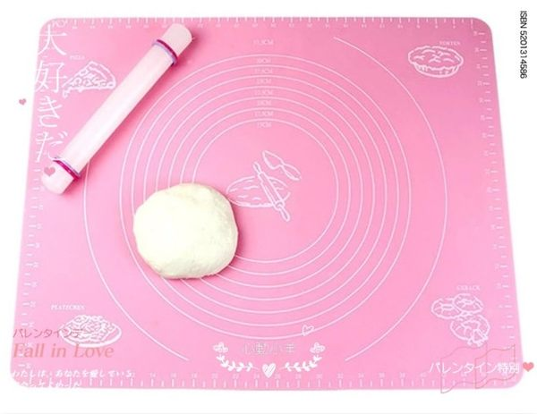 心動小羊^^大號耐高溫矽膠墊(大號)/帶刻度矽膠墊 烘焙墊 高溫墊 防滑揉麵墊 可進烤箱尺寸
