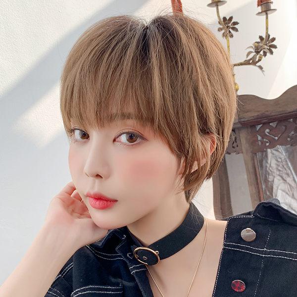 *╮Kinkee假髮╭*個性女孩 大頭皮 韓式空氣女孩短髮 假髮 【 D3090 】
