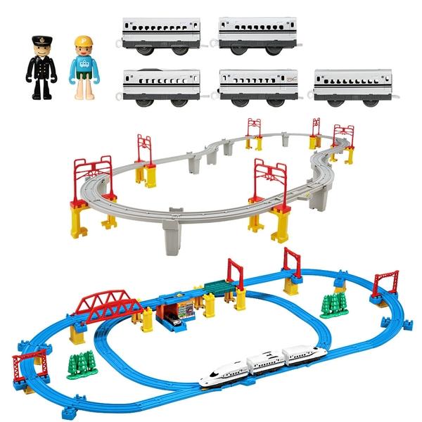 超值組合 新幹線N700S酷炫豪華組+高架軌道組+中間車組_TP61927+TP14773+TP14774