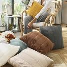針織北歐毛線編織沙發裝飾抱枕腰墊地板坐靠墊攝影裝飾方枕頭靠枕【尾牙精選】