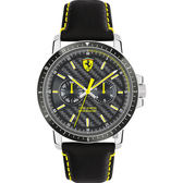 Scuderia Ferrari 法拉利 TURBO日曆手錶-灰x黑/42mm 0830450