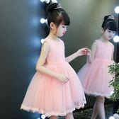 兒童公主裙女童夏連衣裙女寶寶周歲禮服花童蓬蓬裙女孩新款裙子
