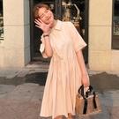 洋裝 甜美法式復古初戀長裙夏季娃娃洋裝子韓版顯瘦學生仙女超仙森系